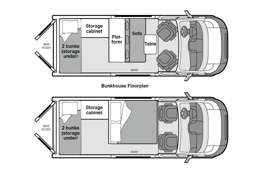 Bunkhouse Campervan