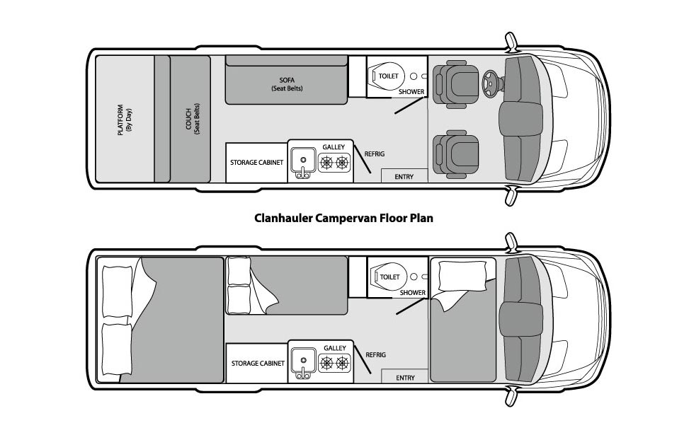 The Clanhauler floorplan.