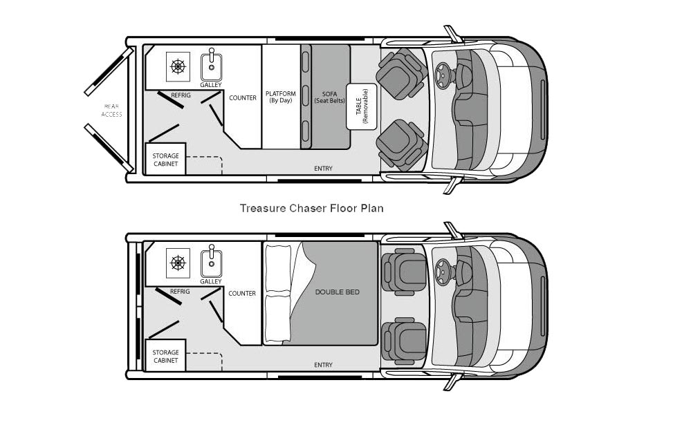 The Treasure Chaser floorplan.