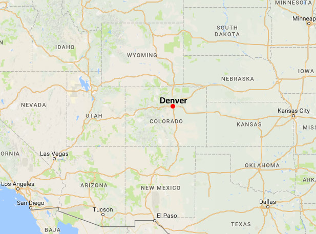 Denver Airport Car Rental Map on